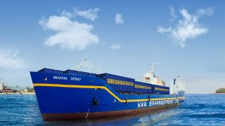 Bahamas Ferries' freight vessel, the M/V Inagua Spray