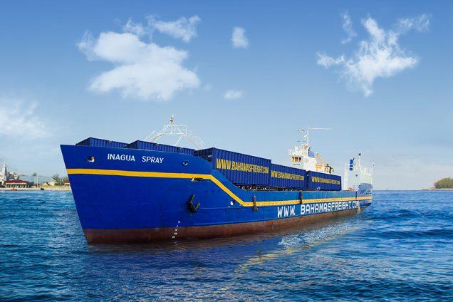 Bahamas Ferries' freight vessel, the M/V Inagua Spray